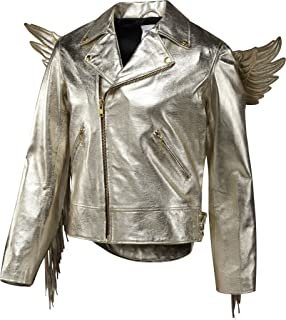 Adidas Men's Jeremy Scott JS Gold Wings Leather Jacket, X29880, Medium