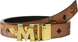 MCM Essential Victory Flower Gold Buckle Belt