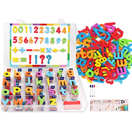 Kids Learning Teaching MAGNETIC Toy Letters /& Numbers Fridge Magnets Alphabet