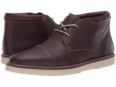 Clarks Grandin Top (Dark Brown Tumbled) Men