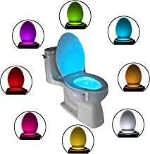 The Original Toilet Night Light Tech Gadget. Fun Bathroom Motion Sensor LED Lighting. Weird Novelty Funny Birthday Gag Stocking Stuffer Gifts Ideas for Him Her Guys Men Boys Toddlers Mom Papa Brother