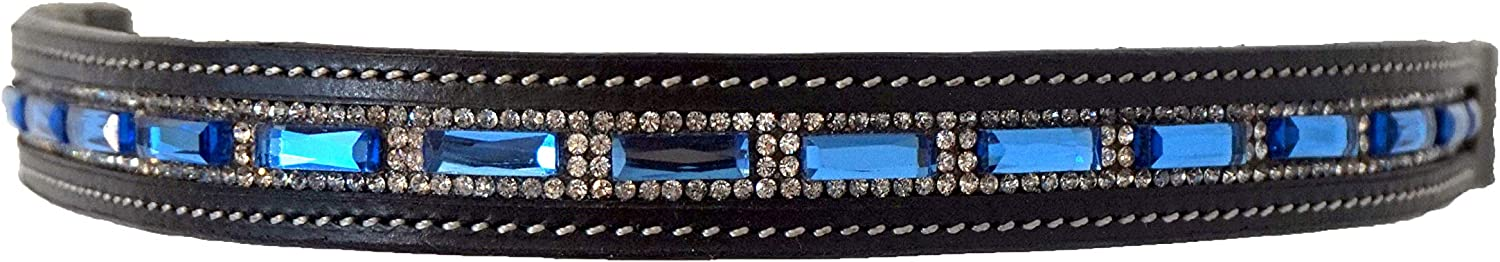 Equitem Pony Colorado Springs Mall Size Leather English Browband with and Bridle 5 ☆ popular Blue