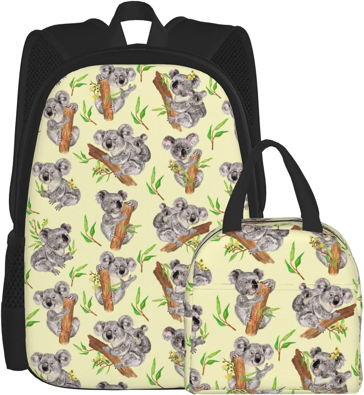 Max 74% OFF Backpacks for Girls Boys Koalas Yellow Lunc Background Unisex Safety and trust In