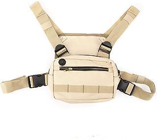 AMONIDA Mobiltelefonväskor, flera innerpaket bröstkorg rigg herrväska, 20 x 14 x 4 cm nylon reptålig för män eller kvinnor...