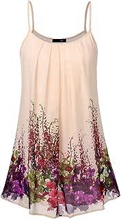 Women's Spaghetti Strap Sundress Summer Floral Swing Dress
