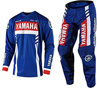 Troy Lee Designs GP Yamaha RS1 MX Motocross Gear Sets Navy White Red (Small Jersey/30 Pants)