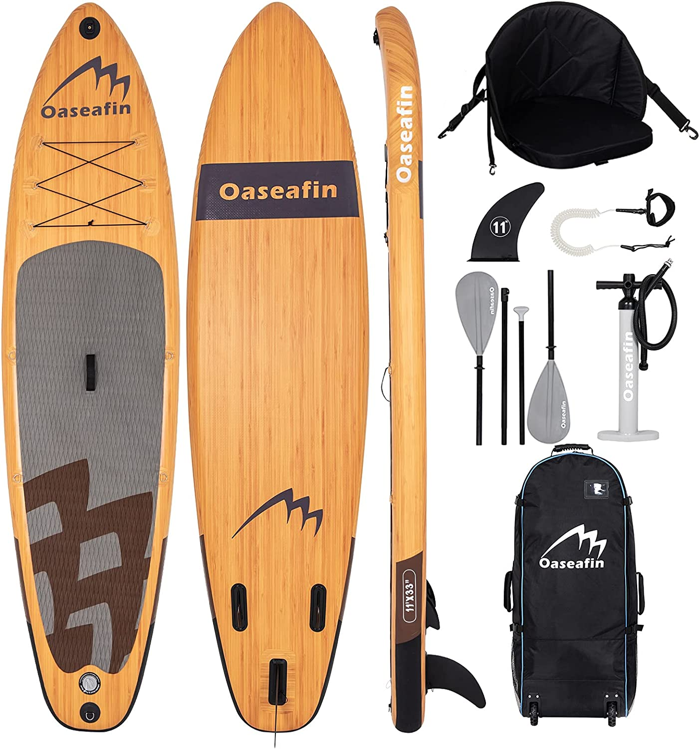 oaseafin Inflatable Stand Up Sales for sale Paddle 11'×33''×6'' depot 6'' Board