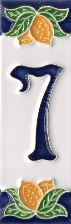 10 cm x 10,5 cm Numero civico e lettere in metallo Dimensioni . cornice con 3 piastrelle