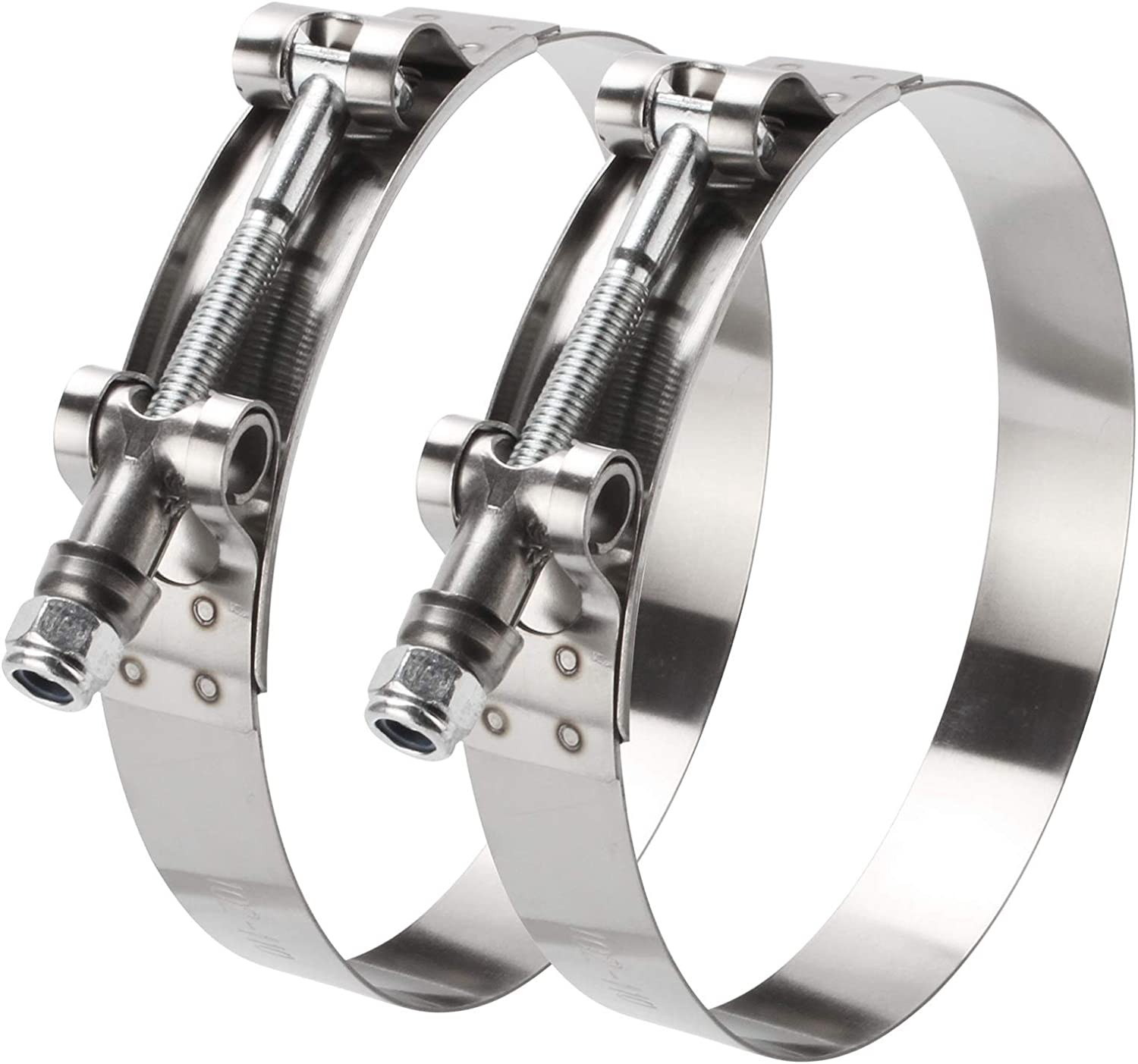 35mm-192mm Washington Mall Max 64% OFF 2 Pieces 304 Stainless Steel Turbo Ho Silicone T-Bolt