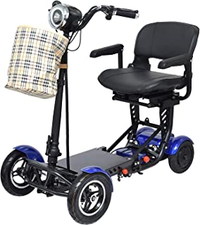 Foldable Lightweight Four Rounds Power Mobility Scooter Wheelchair Multi Terrain Easy Travel Electric Recreational Vehicle...
