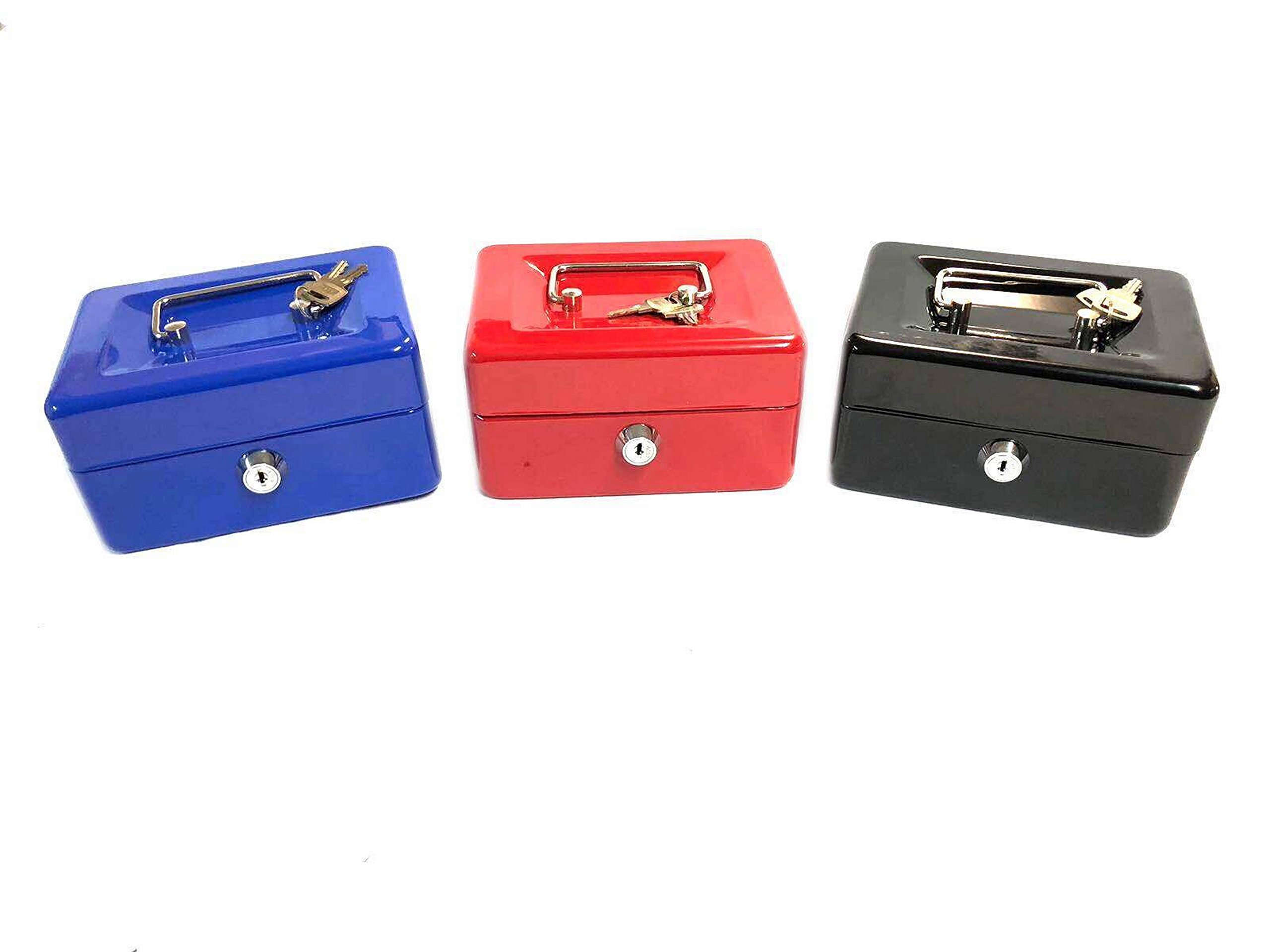 Pequeña caja Metal bloqueo con llave para Espèces con mango de acero – 6