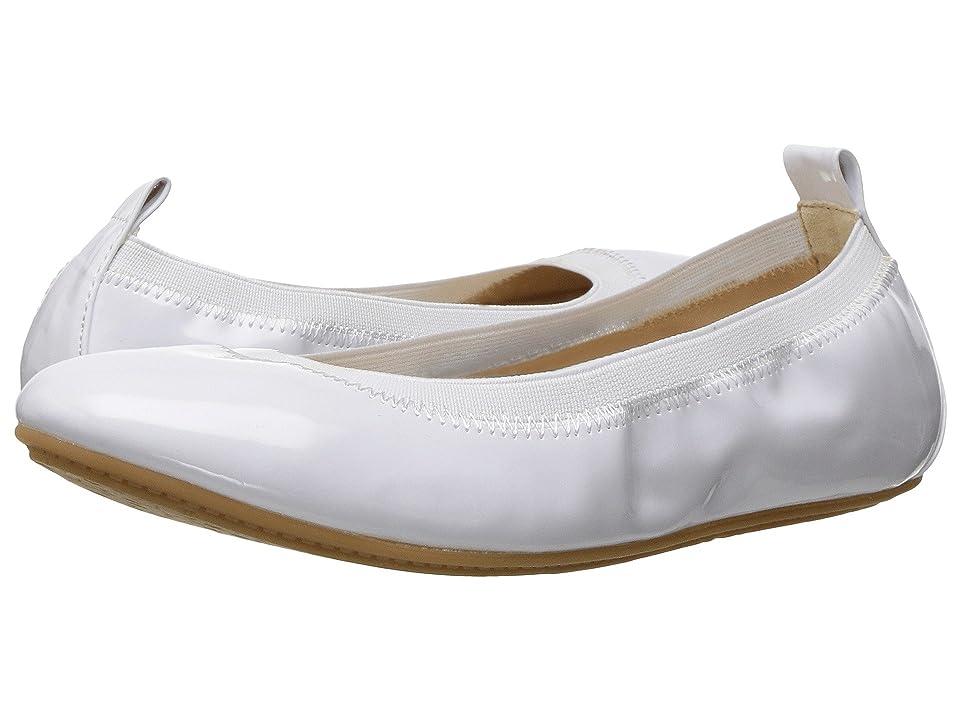 Yosi Samra Kids Miss Samara Patent Ballet Flat (Toddler/Little Kid/Big Kid) (White) Girls Shoes