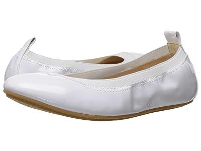 Yosi Samra Kids Miss Samara Patent Ballet Flat (Little Kid/Big Kid) (White) Girls Shoes