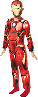 Rubie's 640830S Official Marvel Avengers Iron Man Deluxe Child Costume-Small Age 3-4, Height 104 cm, Boys, One Size
