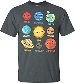 LeetGroupAU Kids Solar System Planets T-Shirt Space Geeks