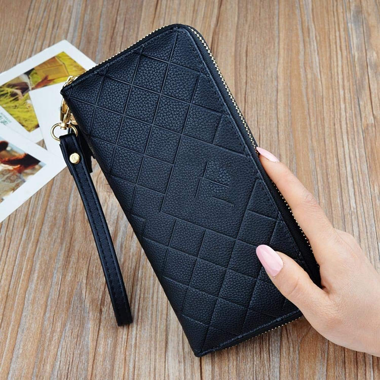Girls Purse Women's Wallet,Ladies Hand Purse LargeFunction Package Student Wallet Zipper Mobile Phone Bag (color   F)