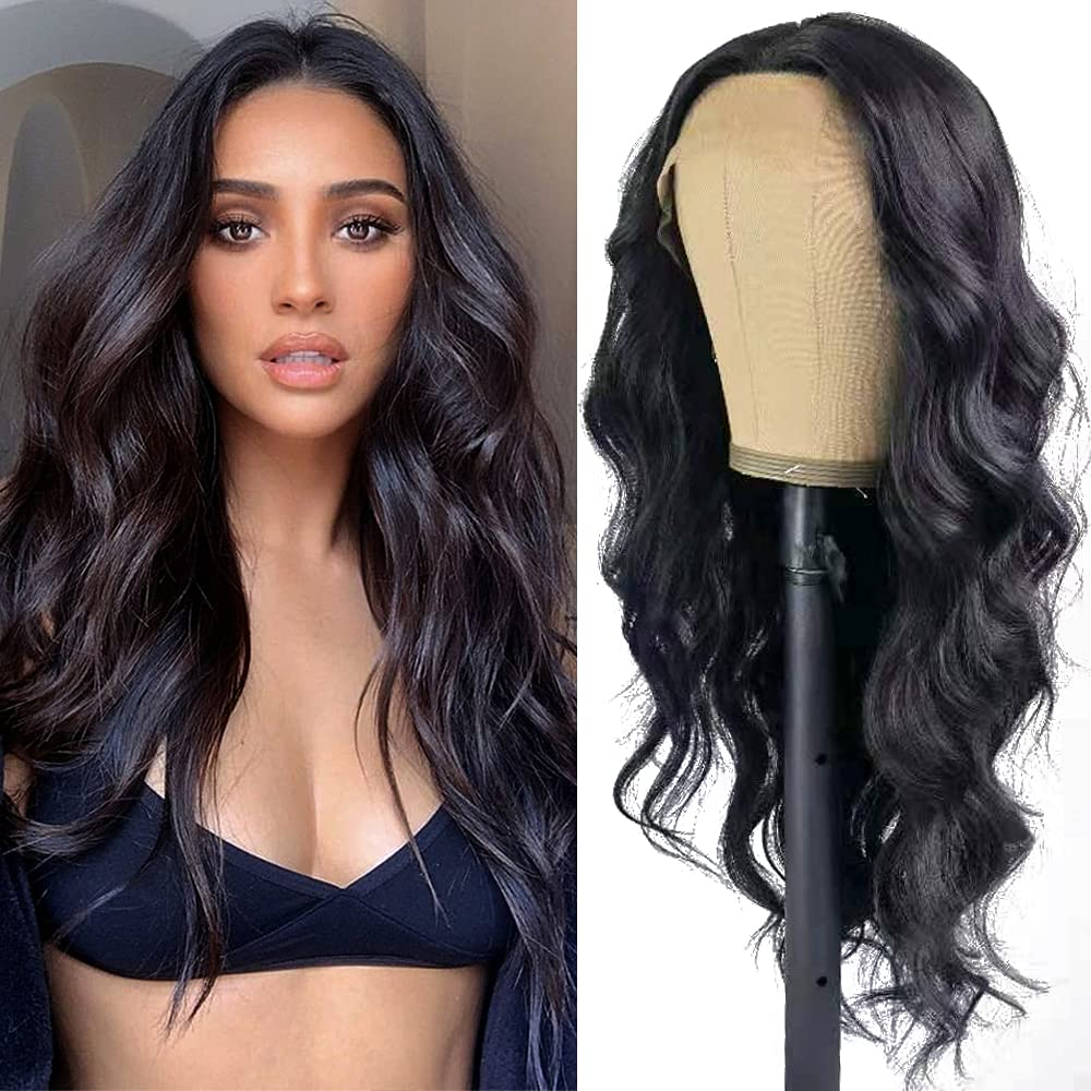 QD-Tizer 180 Density Limited price Long Wavy Max 64% OFF Synthetic Front Black C Lace Wigs