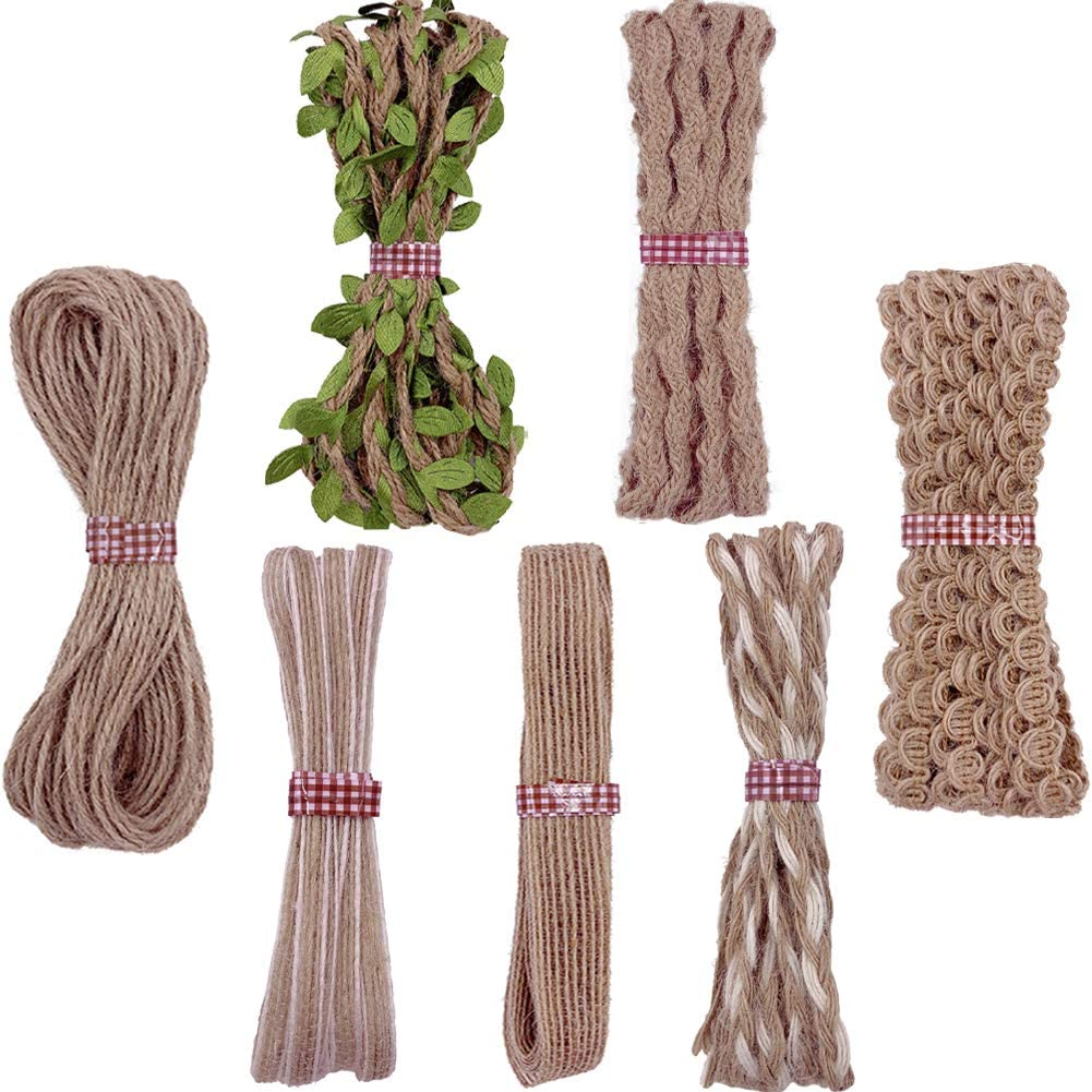 7 Luxury Direct stock discount Rolls Jute Ribbons Burlap Decorative Ribbon Natural Rope