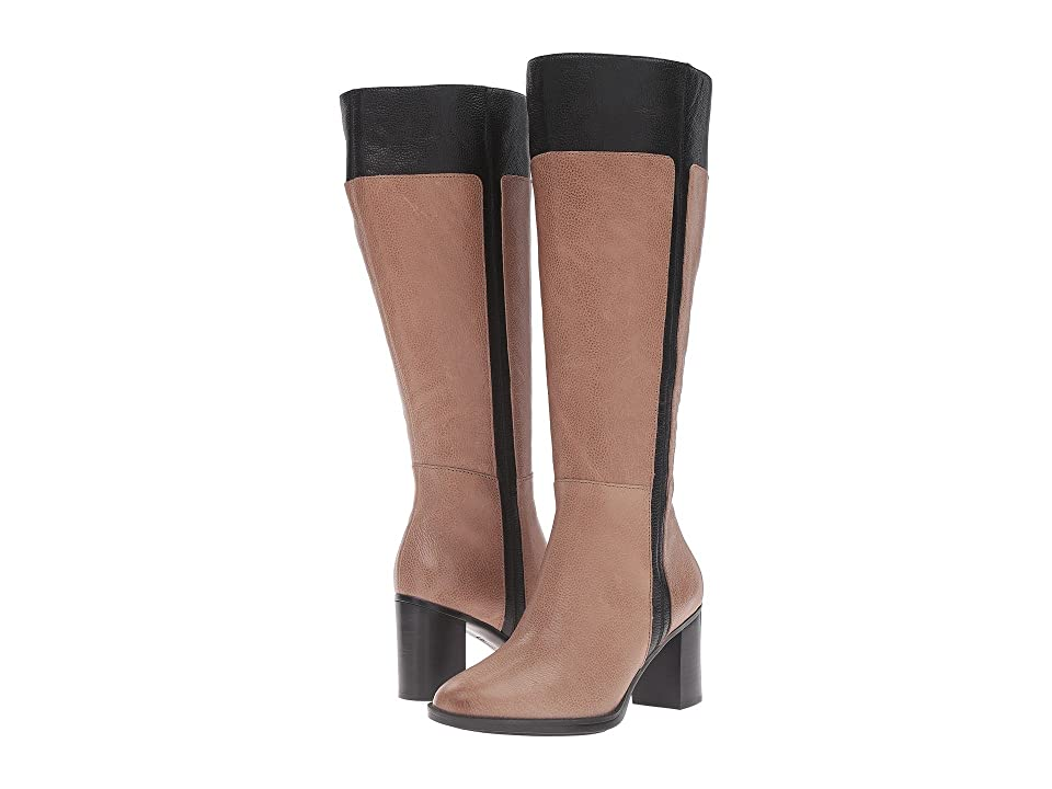 Naturalizer Frances Wide Calf (Dover Taupe/Black Leather) Women