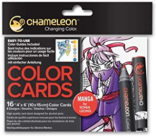 Chameleon Art Products, Color Cards, 8 Designs - Color Cards Manga
