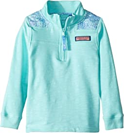 Sea Turtle Print Shoulder Relaxed Shep Shirt (Toddler/Little Kids/Big Kids)