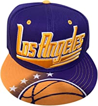 LEADER OF THE GAME Los Angelses Baketball hat in Lakers Colors Gold & Purple Era