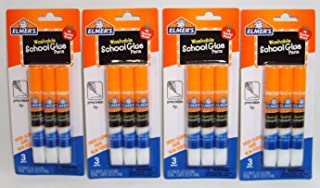Elmer`s Washable School Glue Pens with Precision Tips #1 Teacher Brand (3-pens Per Pack) - 4 Packs