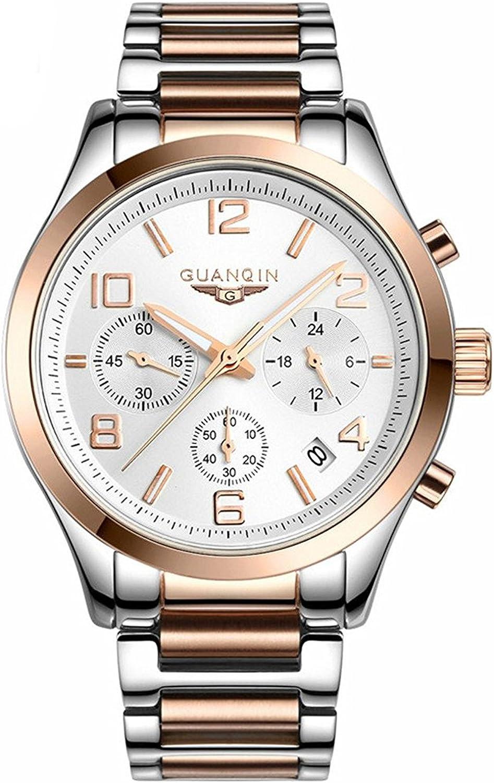 Carlien Outstanding Quartz Men's Inexpensive Wrist Watch Steel Luminous Round Stainless