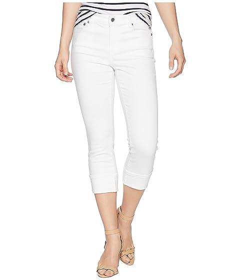 Petite Classic Straight-Leg Pants, Pure White Wash