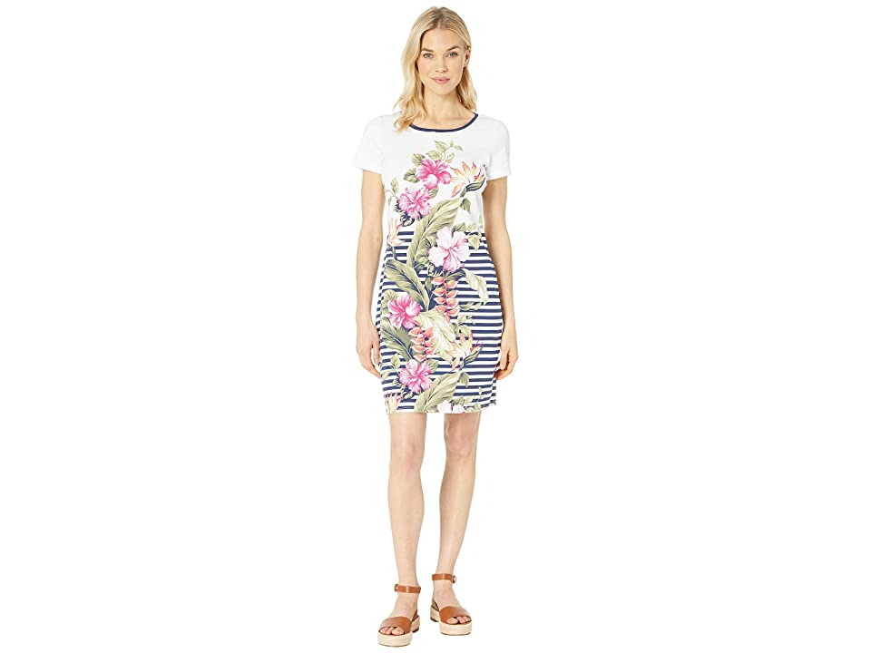 Tommy Bahama - Tommy Bahama Kahuna Cascade Short Sleeve Dress , White