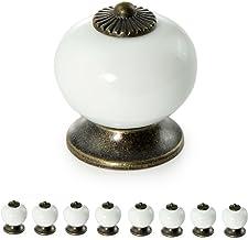 Meubelknoppen Vintage keramiek, kastknop porselein, handvat antiek, landhuis
