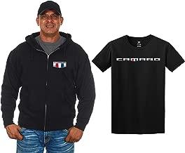 JH Design Men's Chevy Camaro Zip-Up Hoodie & T-Shirt Combo Gift Sets