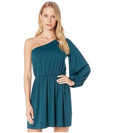 Susana Monaco Gathered Sleeve Blouson Dress (Pine Needle) Women