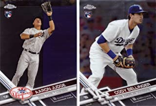 2017 Topps Chrome Aaron Judge and Cody Bellinger Rookie Card Lot of 2