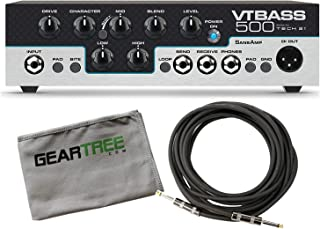 Tech 21 VT-Bass 500 Character 500w Bass Amp Head Bundle w/Cable and Geartree Cl