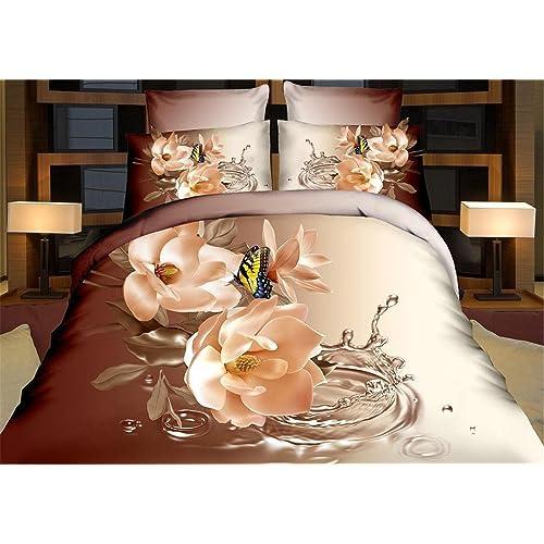 PZJ® ropa de cama de 4 piezas, Juego de cama 3D, Incluye 1