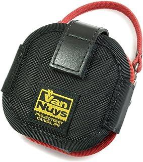 バンナイズ (VanNuys) SONY Xperia Ear Duo 用 完全無欠 の キャリング ケース ・ ウエスト / バリスティック ナイロン 製 (ブラック) × 8号 帆布 製 (レッド)