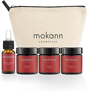 Mokann Cosmetics Travel Set for Comprehensive Body Care Cranberry