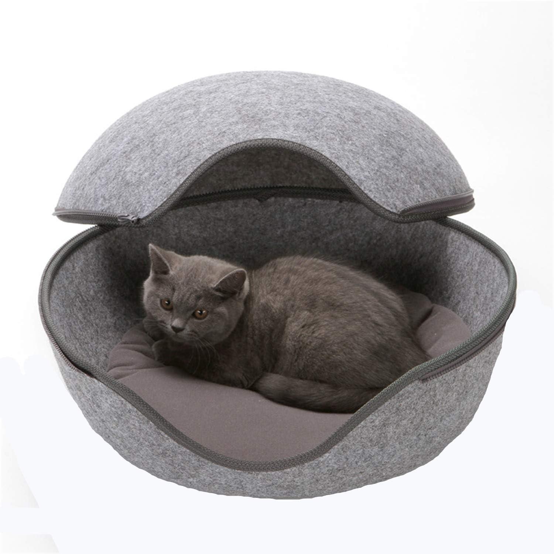 XQSWEU Hundehaus für Drinnen Katzenest, hundebett grau Katzenhöhle ...