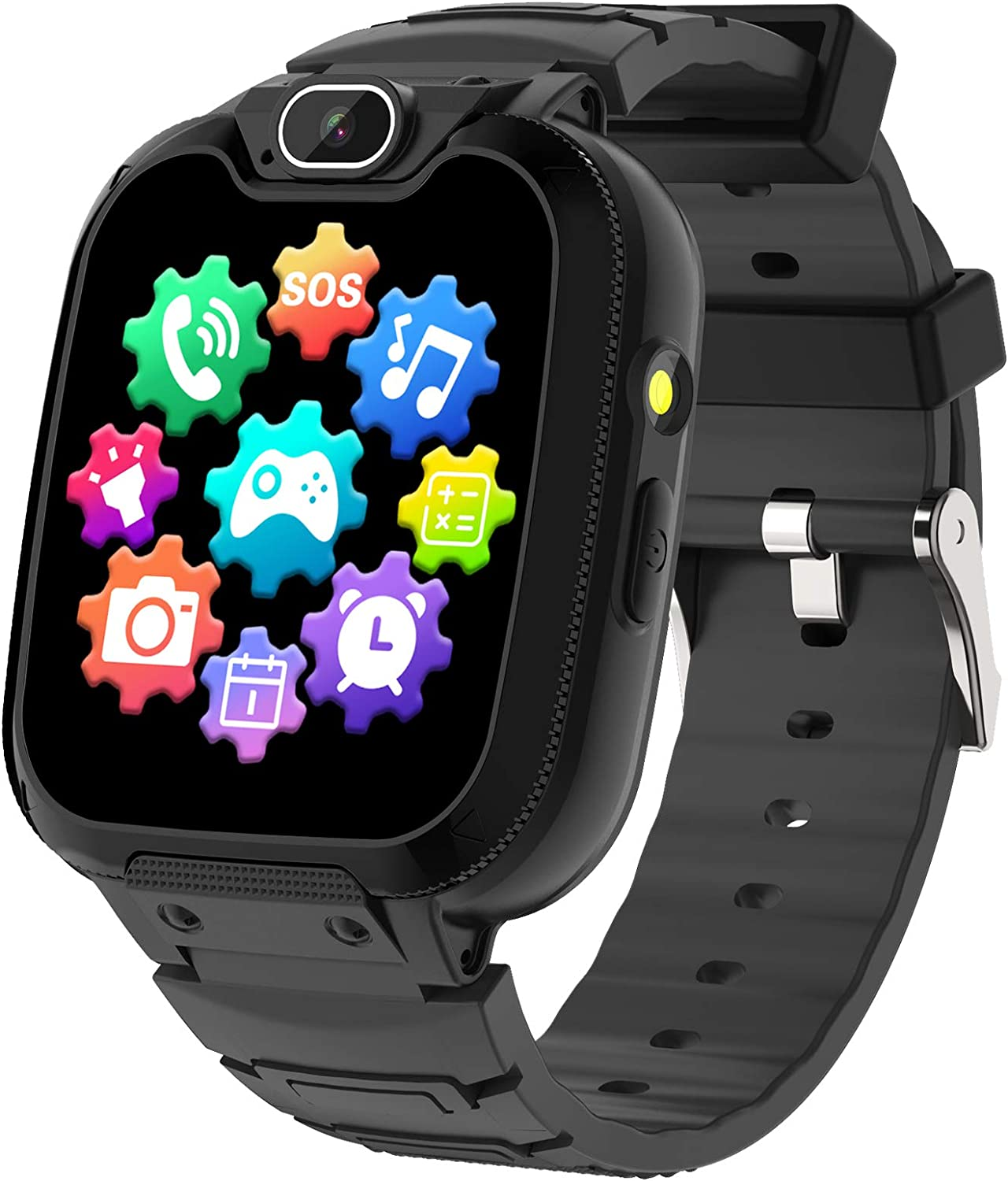 Kids Smart Watch for Boys Girls - Kids Phone Smartwatch with Calls 14 Games S0S Camera Video Music Player Clock Calculator Flashlight Touch Screen Children Smart Watch Gifts for Kids Age 4-12 (Black)