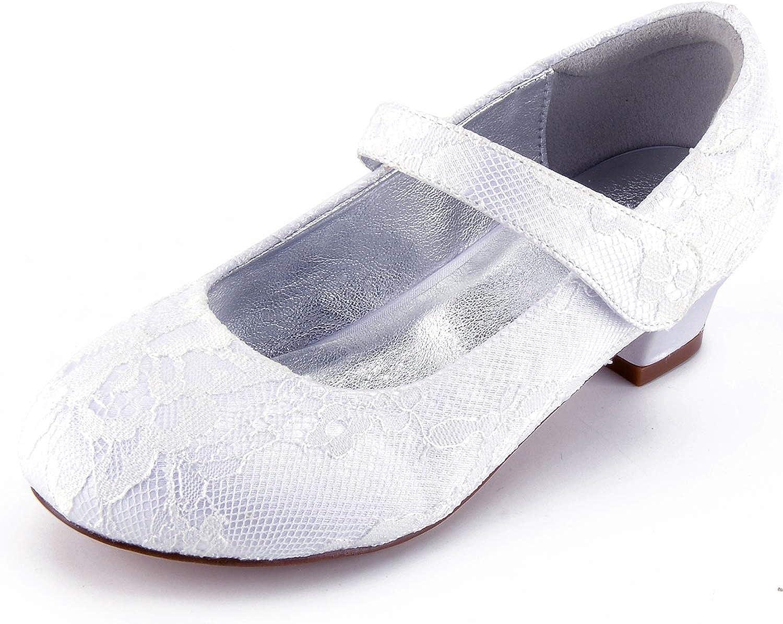 Elobaby Frauen Hochzeit Schuhe FD861 Kinder KTzchen Runde GrE Partei FrüHling Herbst Geschlossene Zehe   3 cm