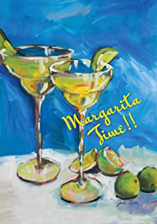 Toland Home Garden Margarita Time 28 x 40 Inch Decorative Colorful Lime Happy Hour Cocktail Party House Flag
