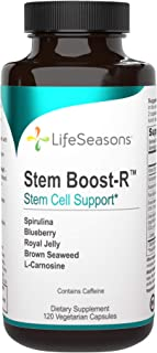 LifeSeasons - Stem Boost-R - Support Stem Cell Production - Spirulina, Blueberry, Royal Jelly, Brown Seaweed and L-Camosin...