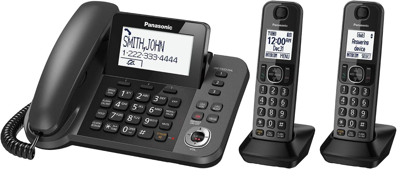 Panasonic KX-TGF352M Corded/Cordless 2 Handset Landline Telephone