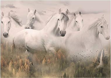 "Hoffman Fabrics Hoffman Digital Call of The Wild 30"" Spirit Horses Panel, Dawn"