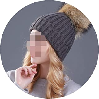 Winter hat for Women Girl 's hat Knitted Beanies Cap Thick Female Cap