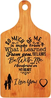 Christmas Gifts for Mom - LANGXUN Personalized Engraved Bamboo Cutting Board for Mothers Day Gifts, Mothers Birthday Gift, Mom and Grandma Gift, Ideal Presents for Mom