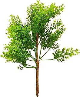 SLDHFE Lot de 5 mini branches de pin artificielles de 20,1 cm avec poinsettia et baies de sapin de Noël pour décoration de...