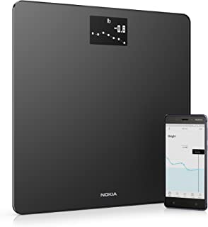 Withings / Nokia | Body - Smart Weight & BMI Wi-Fi Digital Scale with smartphone app, Black