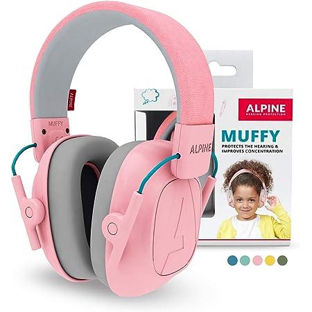 Alpine Muffy Cuffie antirumore bambini - Cuffie protezione per bambini fino a 16 anni - Cuffia antirumore di prima qualità studiata per bambini - Protezione orecchie bambini fascia regolabile - Rosa